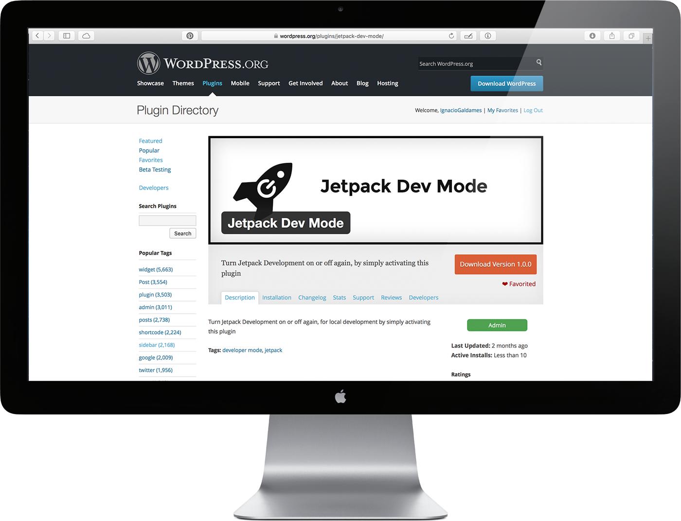 Jetpack Dev Mode, WordPress Plugin