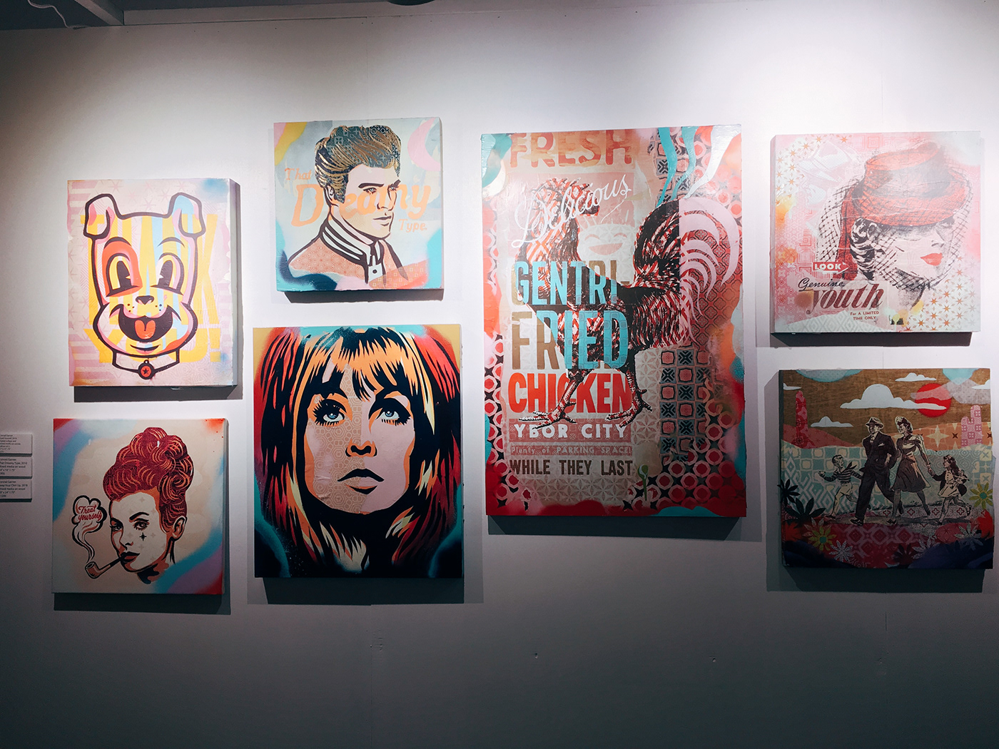 spray paint stencil art paint art show Breaking Patterns cass contemporary epicurean hotel tampa Conrad Garner