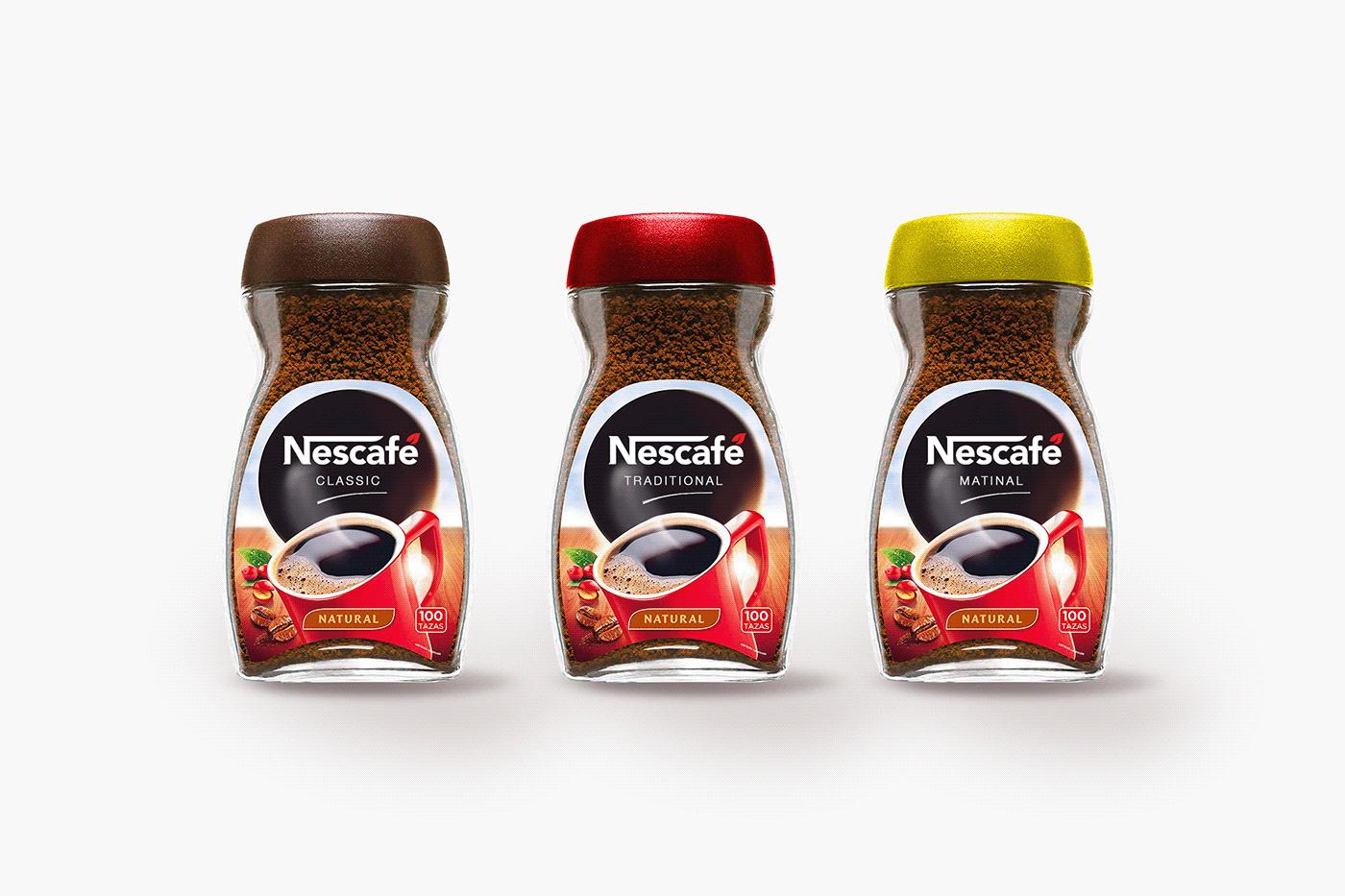 redesign logo nescafe Rebrand graphic design  logo deisgn grid Coffee process design