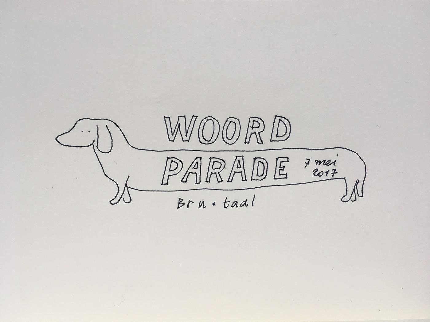 dog knitting street parade