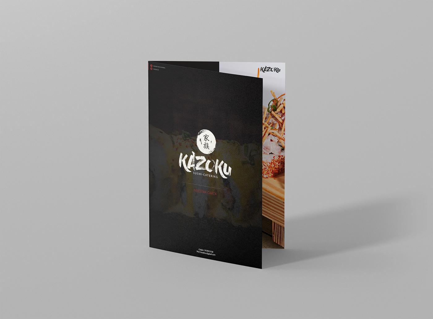 Kazoku sushi catering on Behance