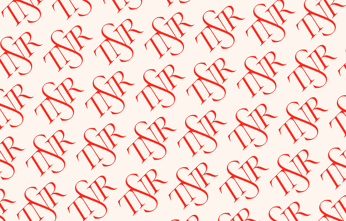 fashionable Logotype monogram Monogram Design red Trading Company red branding