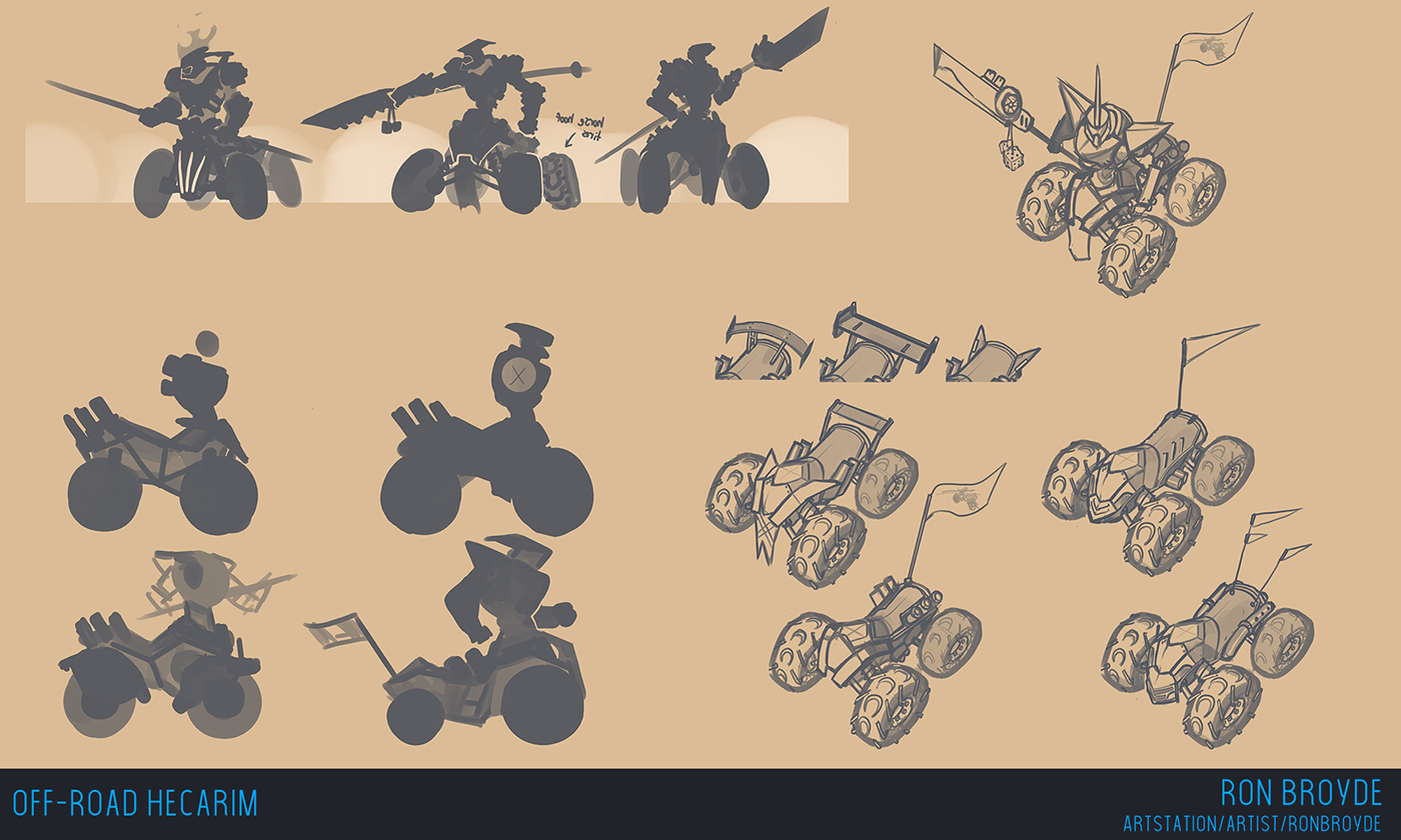 league of legends hecarim art of legends concept art robot mecha Robot car car Car bot