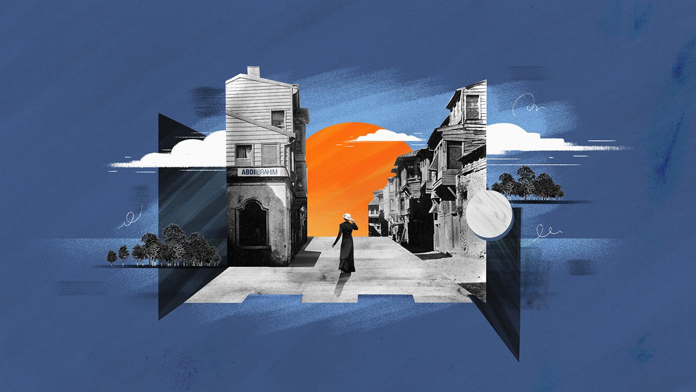 2D animation  brush collage explainer ILLUSTRATION  motion graphic photoshop texture womansday