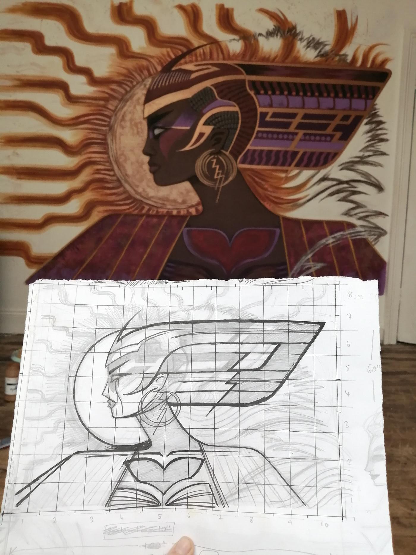 afrofuturism deity empowered female goddess Nature power storms woman women