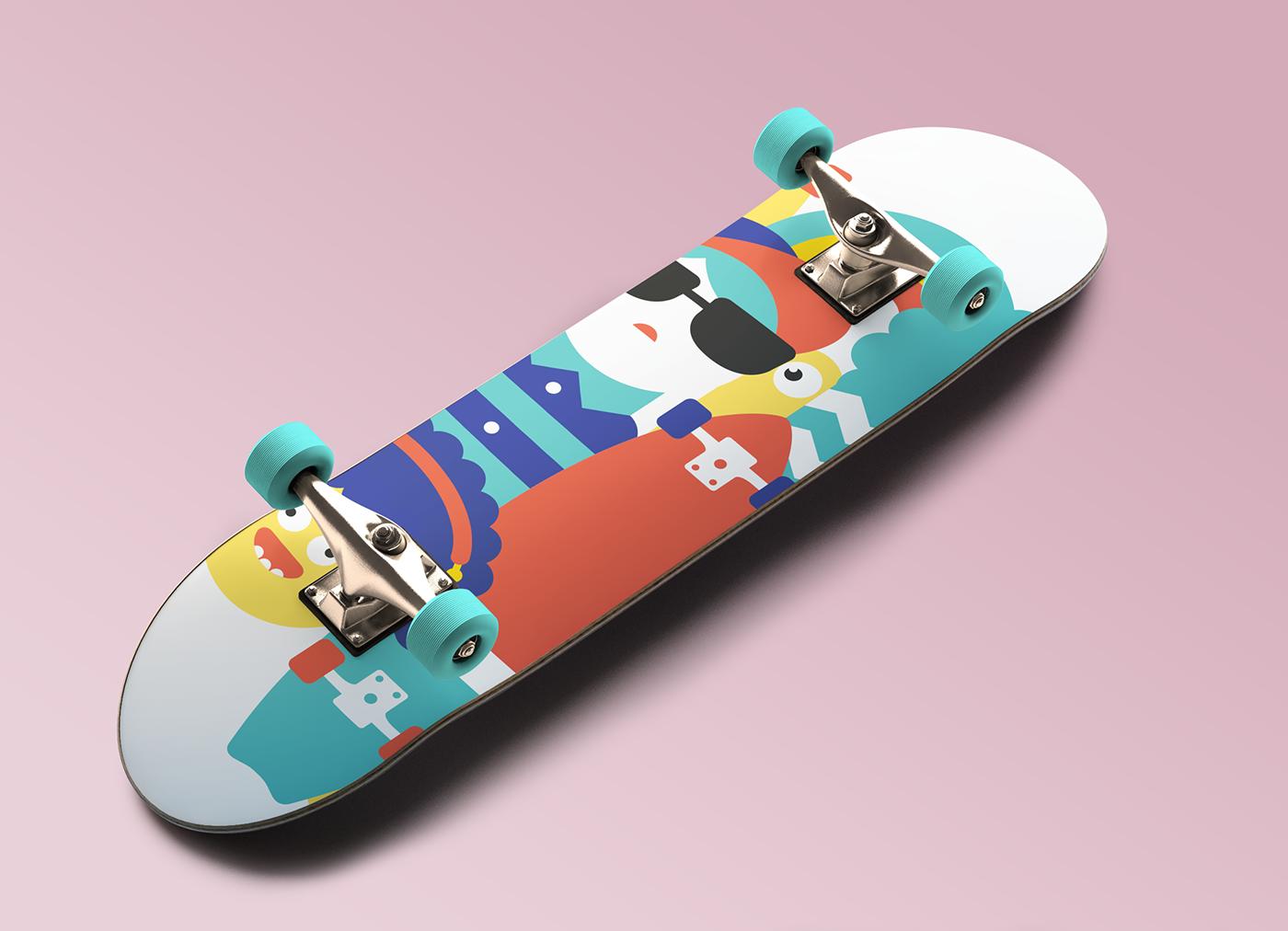 vector vector art ILLUSTRATION  adobe skate skater Skating skateaobard