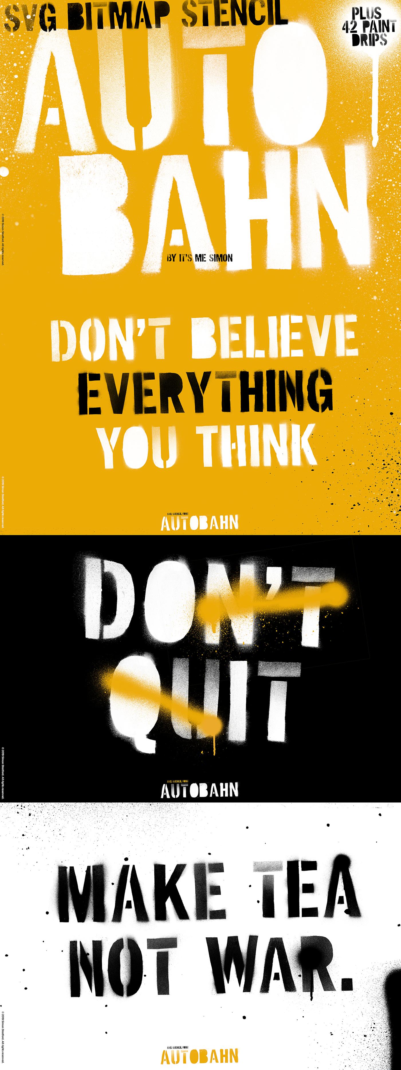 font Typeface OpenType-SVG bitmap stencil stencil font dispaly spray paint paint grunge
