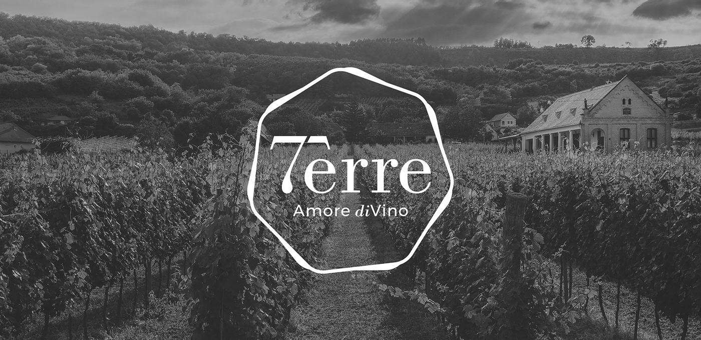 inspire brand branding  wine visual identity logo Logotype art direction  terre