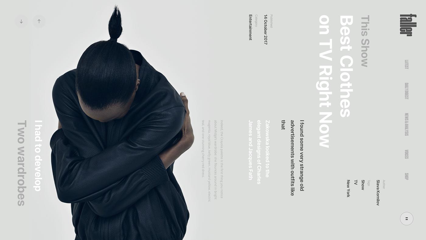 news Fashion  book Interface Web