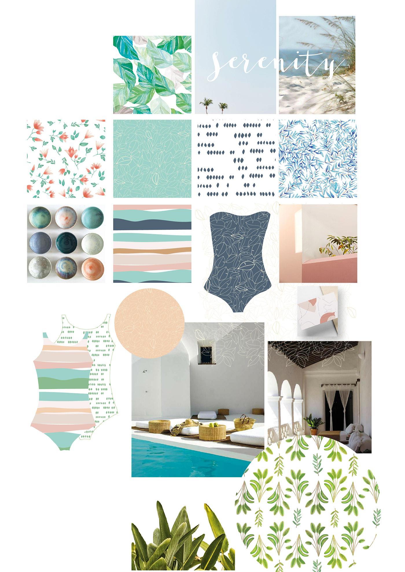pattern,pattern design ,copic marker,watercolor,swimwear,swimwear pattern,Portugal,floral,Tropical