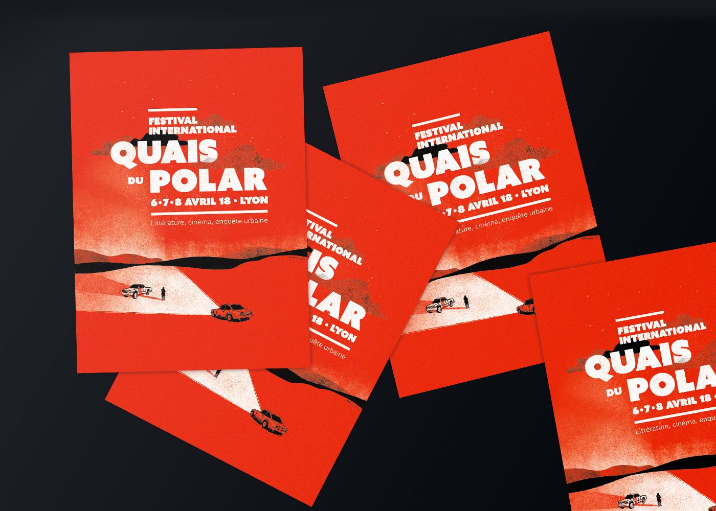 polar book Event festival ILLUSTRATION  car poster silkscreen print save the date creepy