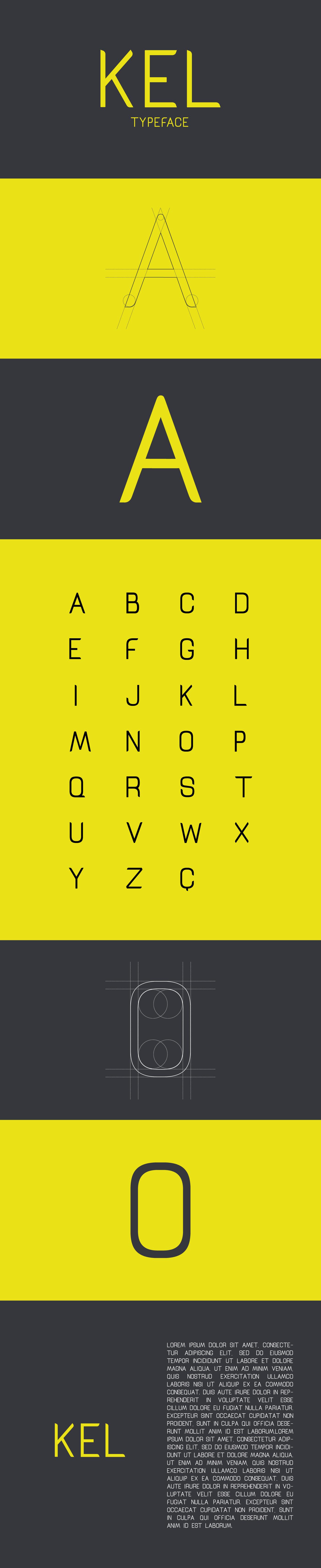 KEL FONT Free font Typeface tipografia fontes