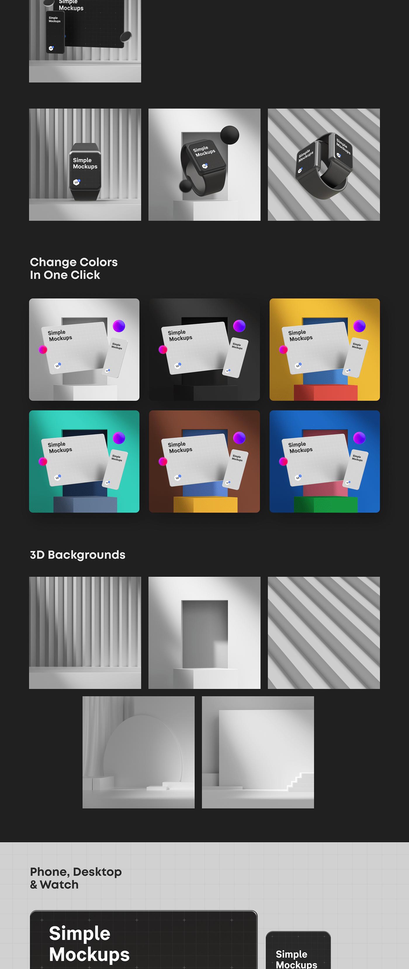 3D app c4d cinema4d Figma Mockup obj scene Website