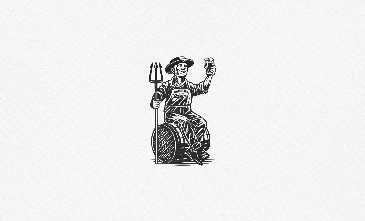 crosshatch Drawing  engraving handdrawn ILLUSTRATION  vintage woodcut