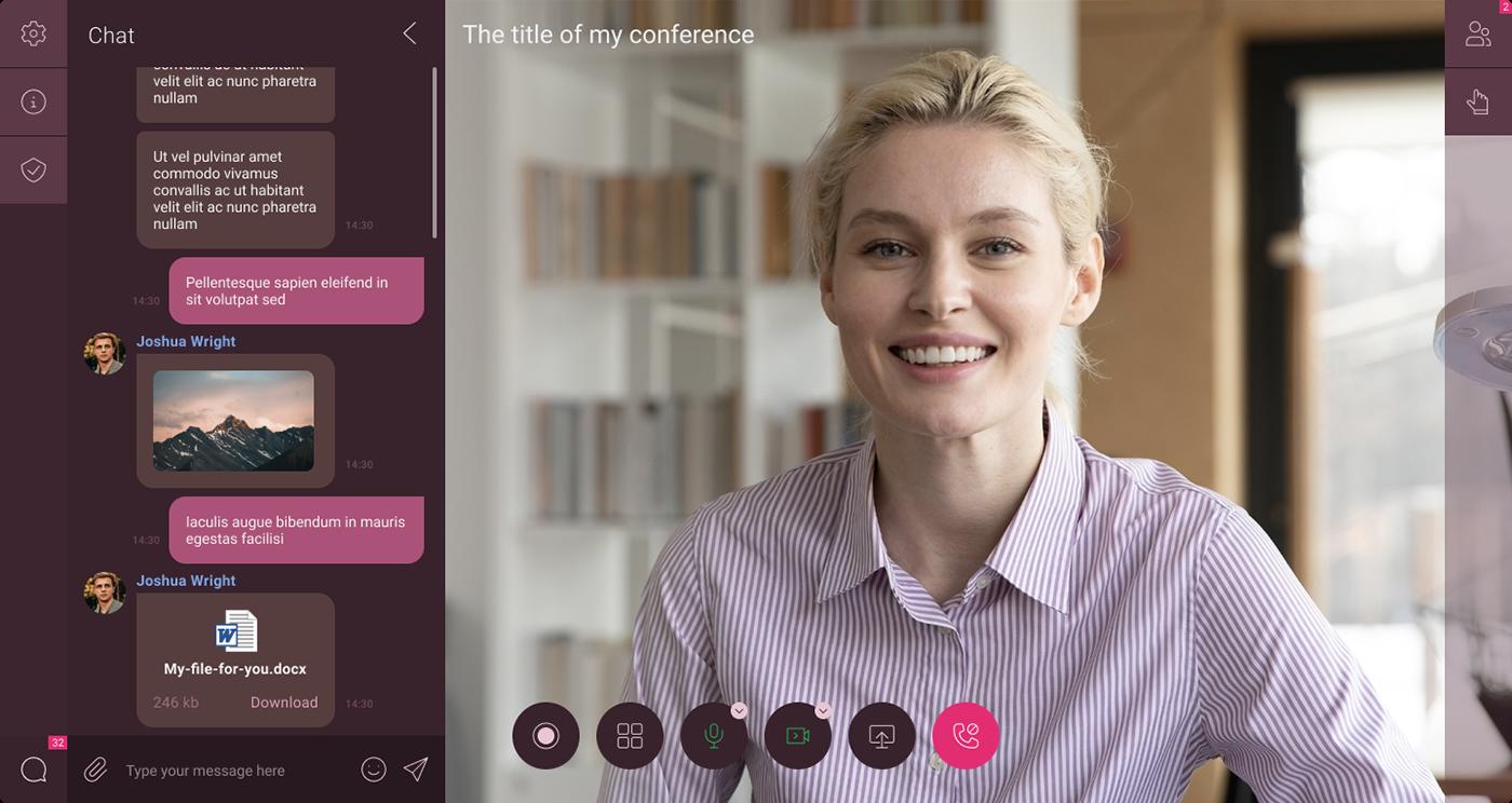 browser design messenger UI ux video messenger