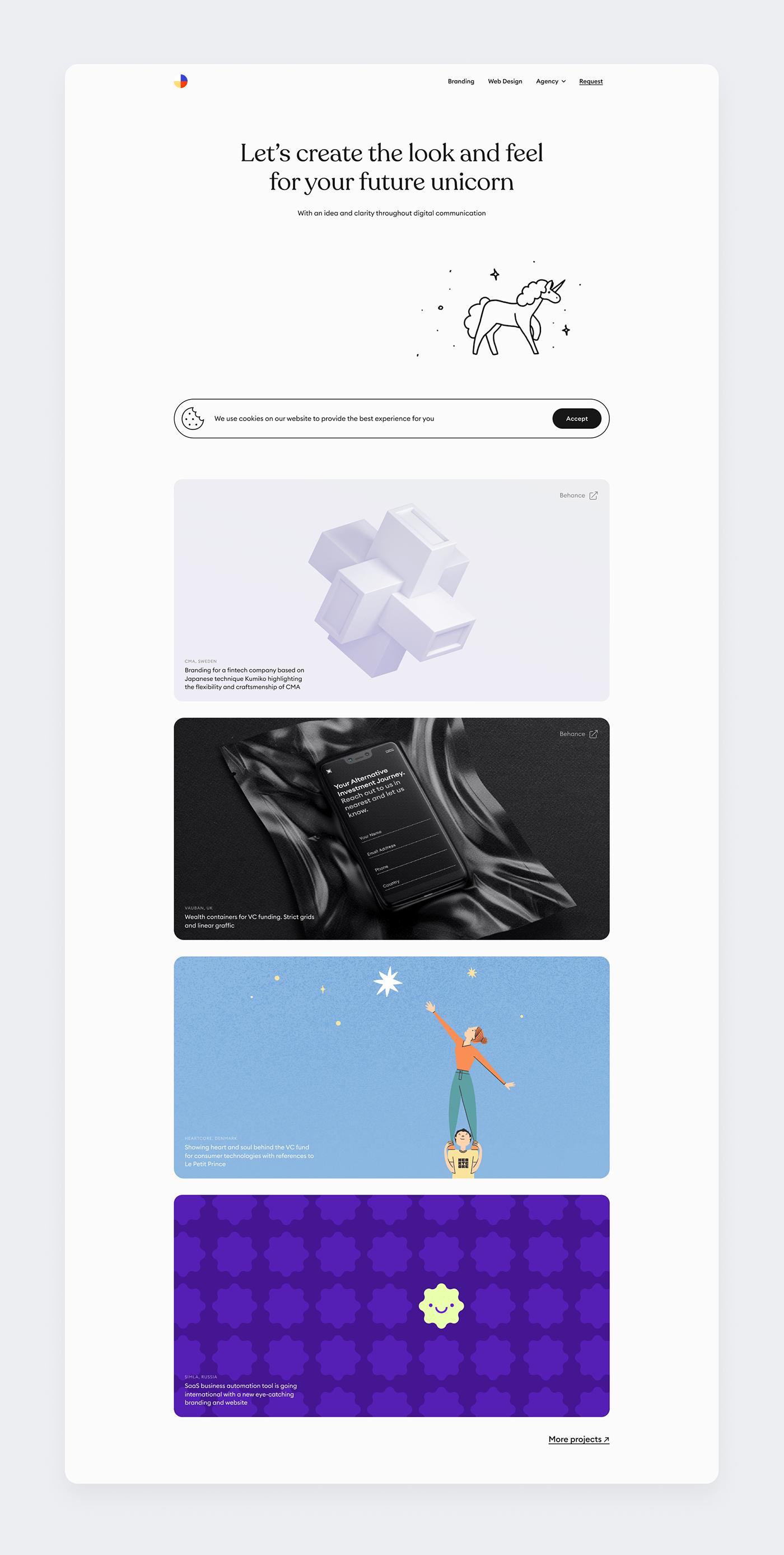 UI/UX unicorn Website animation  motion minimalistic drawings illustrations Digital Art  vector