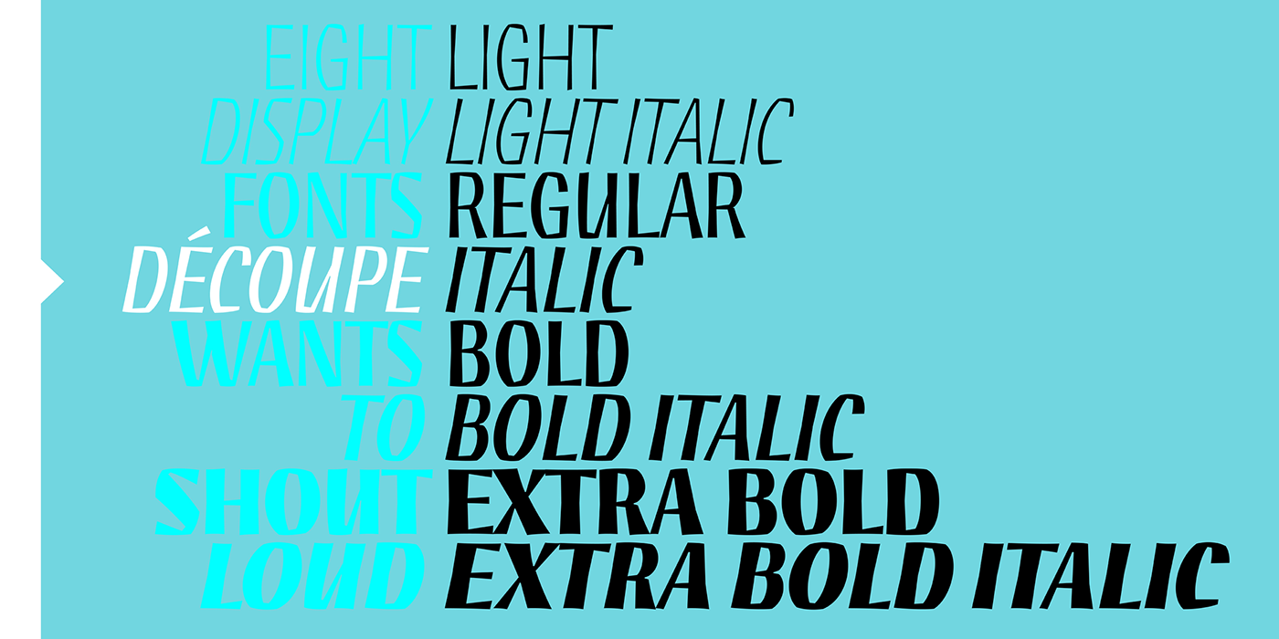 expressive craft paper cut graphic design  lettering typography   font sudtipos