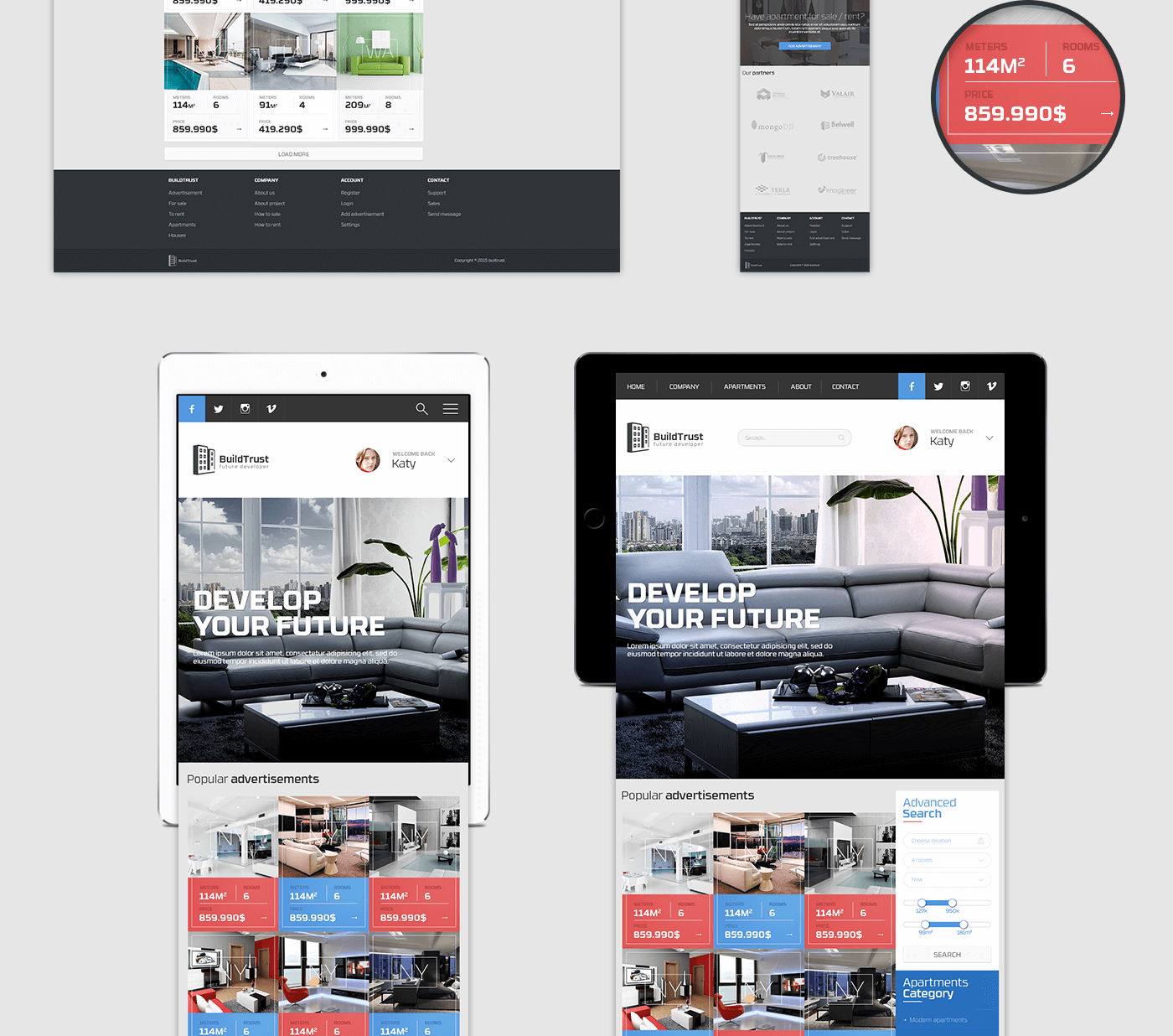 Best Site To Look For Apartments: Advertisement Apartments Website On Behance