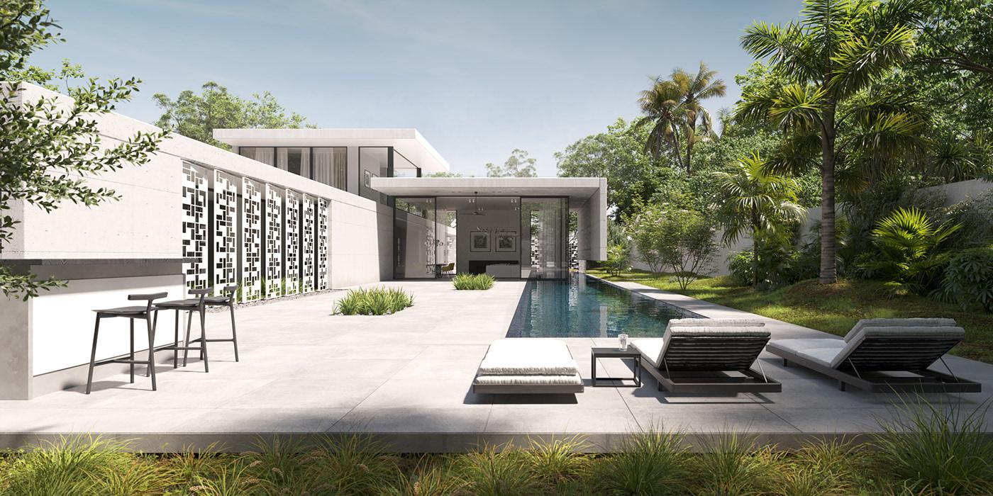 3D 3dsmax architecture archviz CGI corona exterior house Render visualization