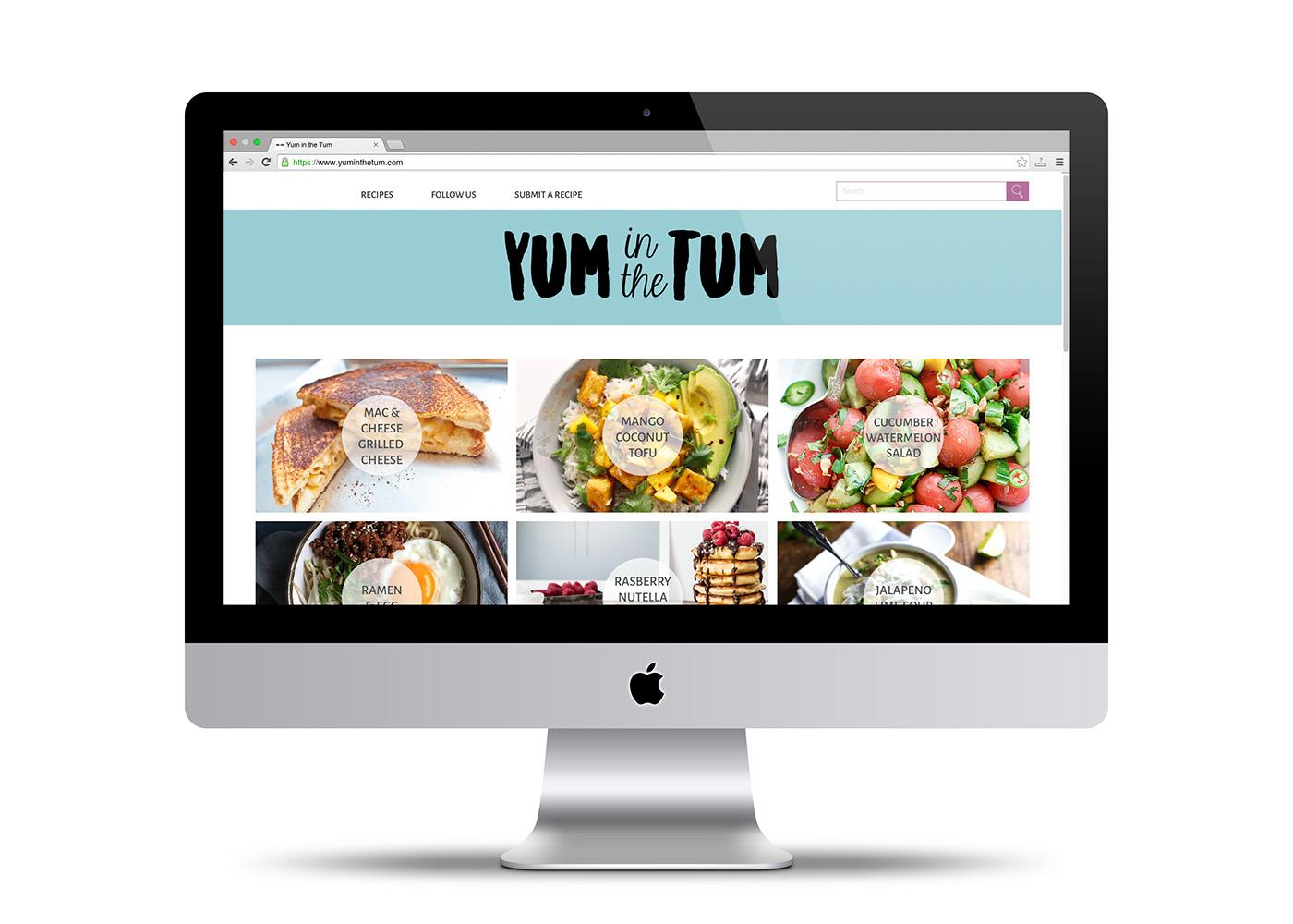 YUM IN THE TUM : Web Design on Behance