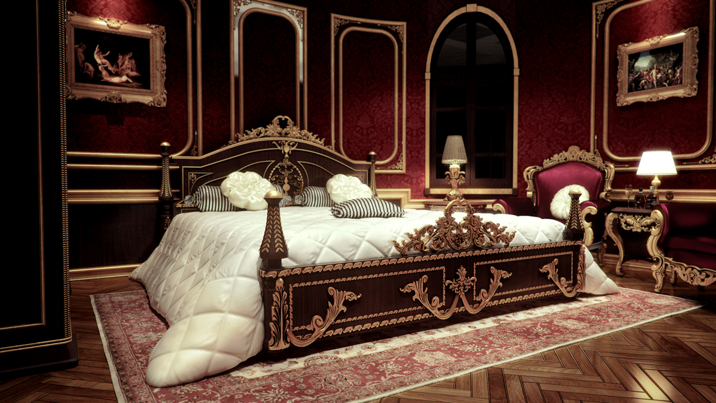 Royal Master Bedroom 2 On Behance
