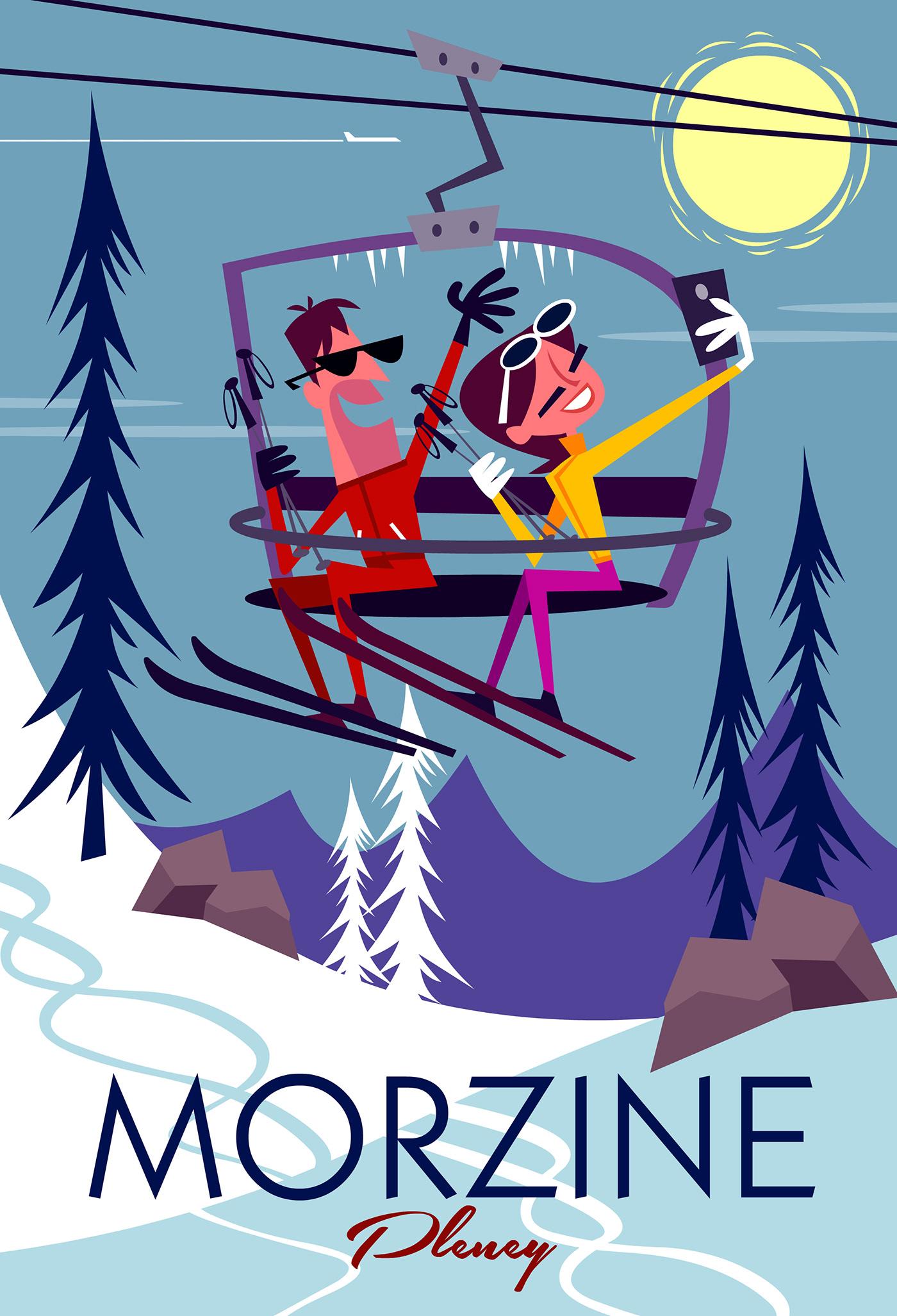 Ski Mobile Insnowgraphic