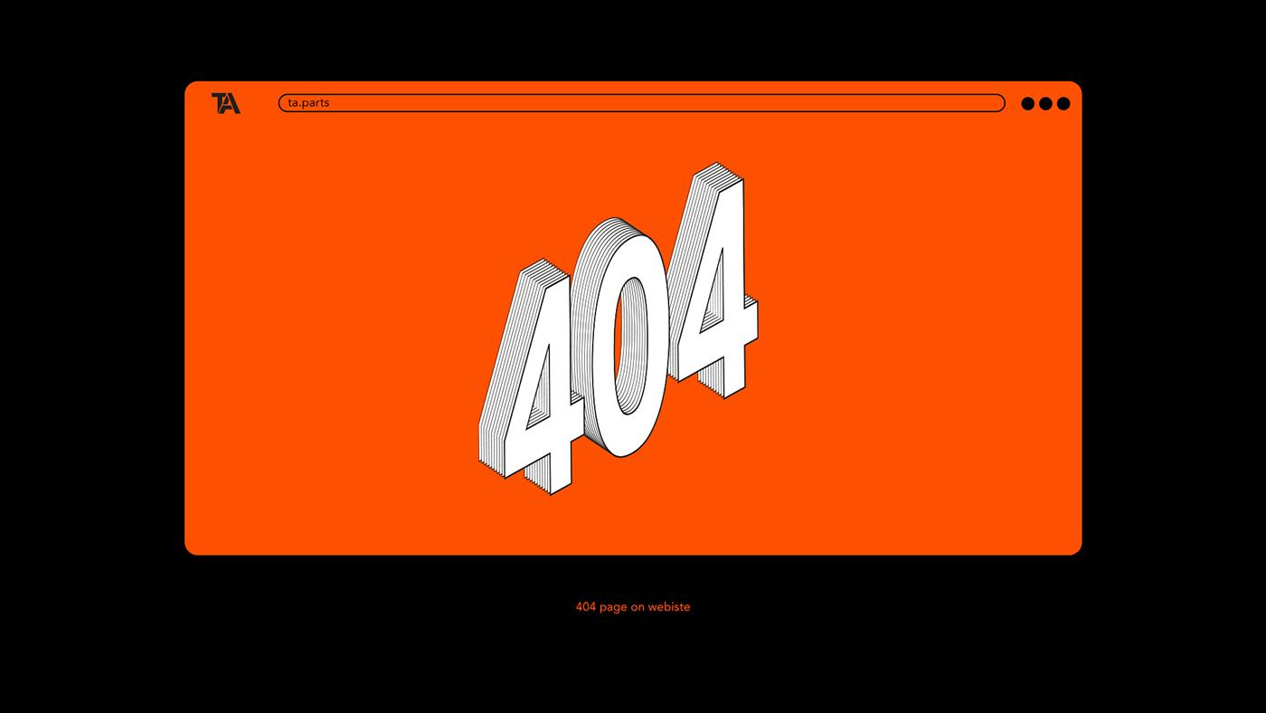 branding  Icon identity Isometric logo Logotype orange outline