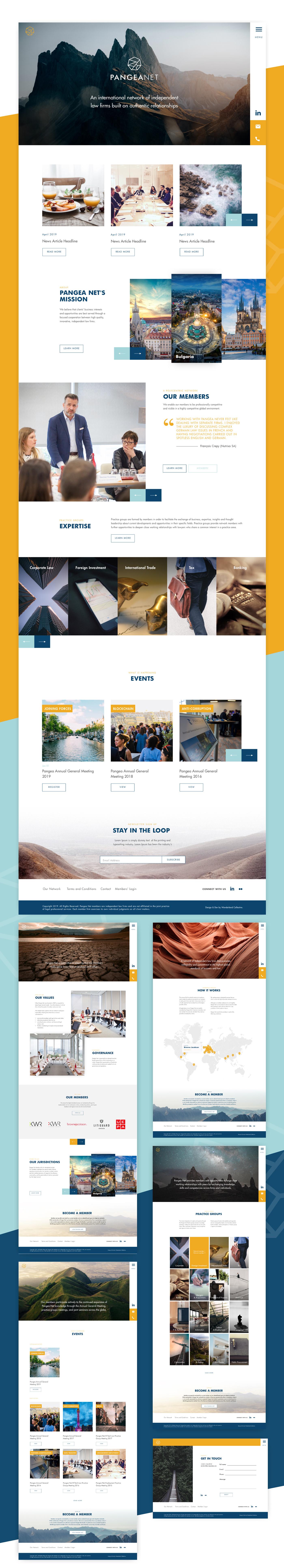 Web Design  law firm website pangea Network Website UI ux UI/UX Membership portal Website Design Global website