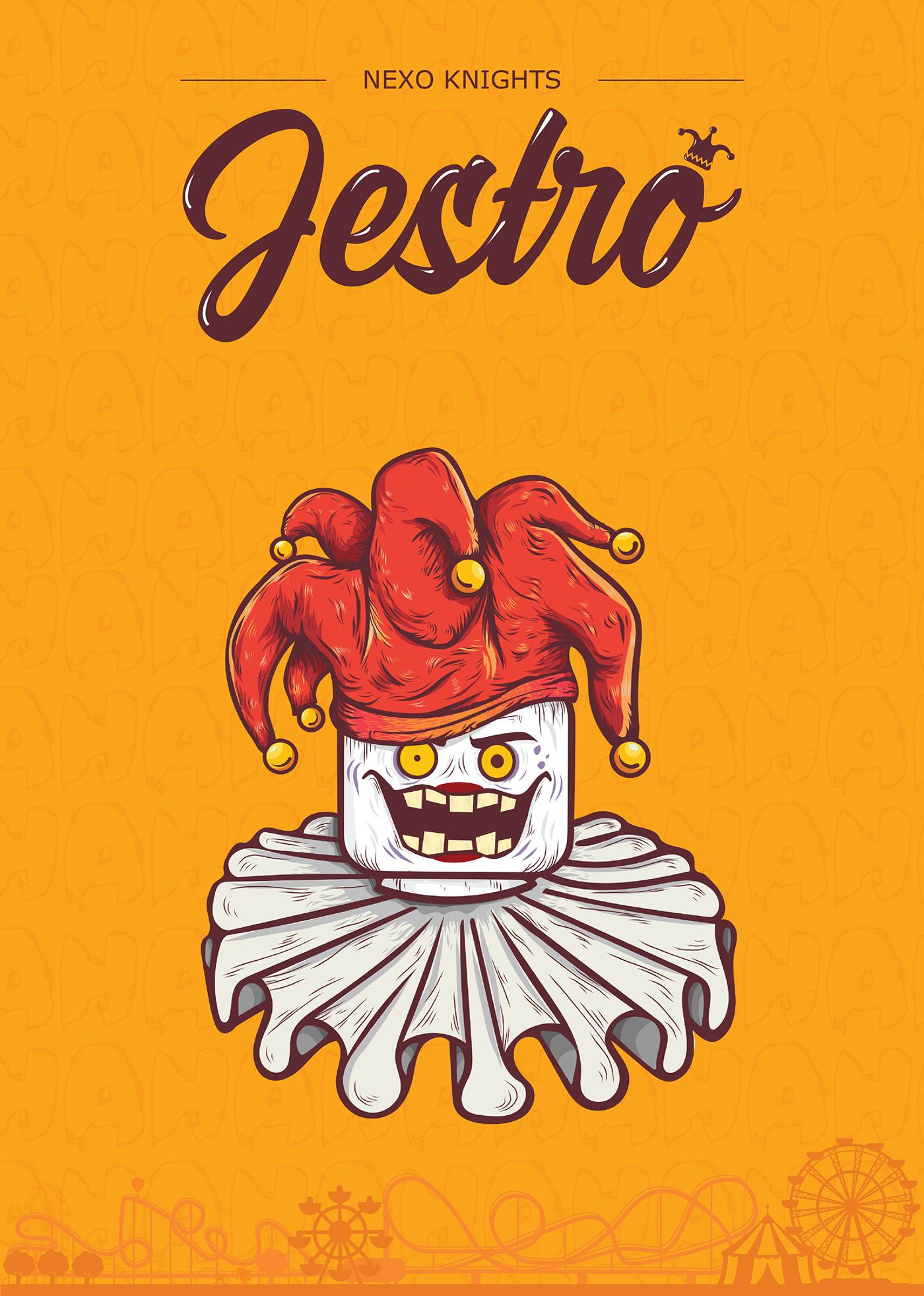lego nexo knights jestro  king halbert illustration on