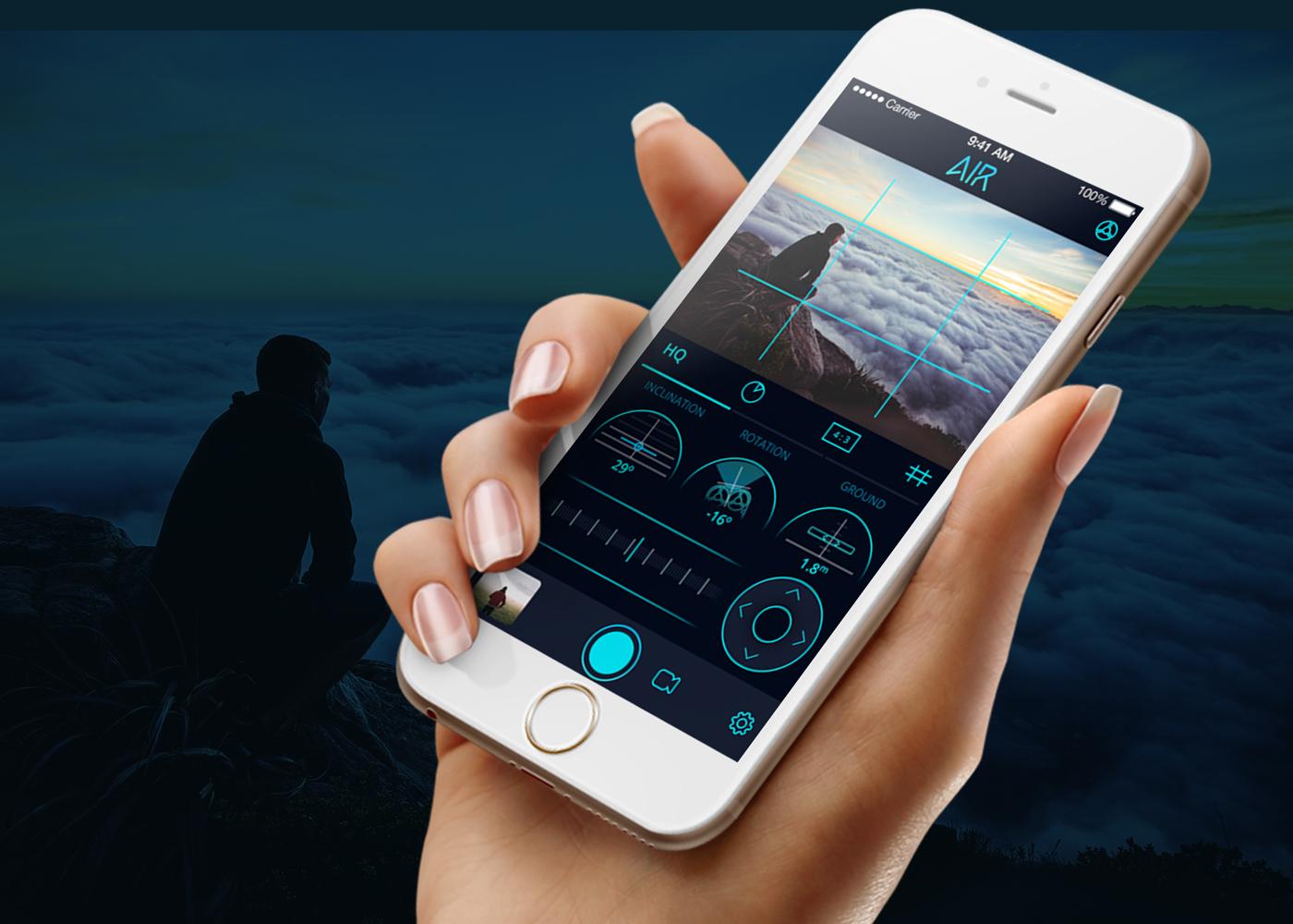 branding  Web Design  UI/UX app camera Linkedin logo presentation photo app drone