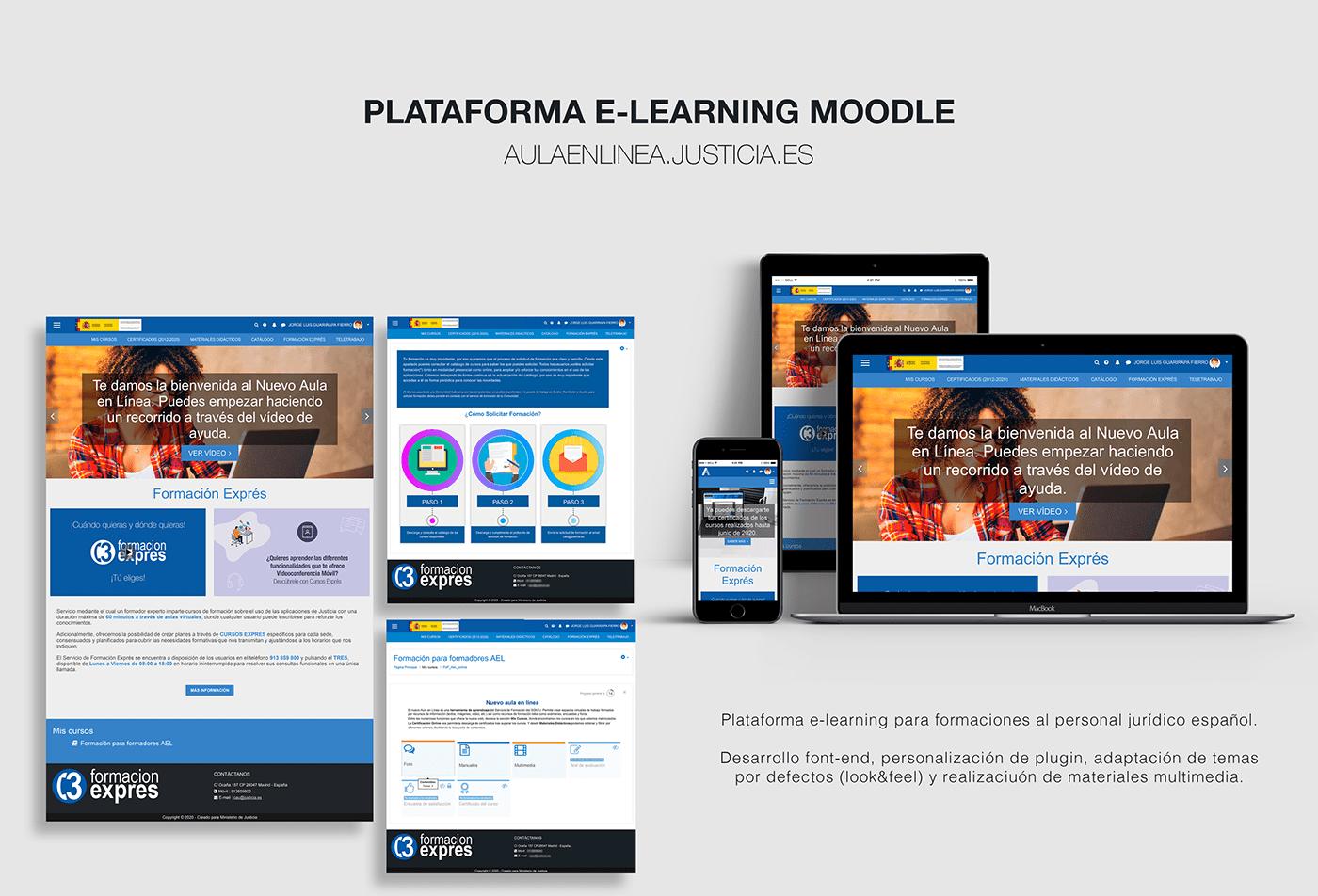 CCS design developer Diseño web HTML learning Moodle programación UI ux