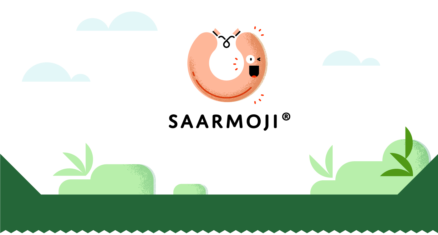saarmoji Emoji animation  Food  culture home app UI digital sticker