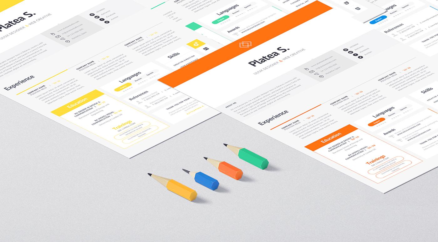 Resume CV curriculum Vitae freebie free template inspiration minimal clean digital agency wireframe UI ux Interface