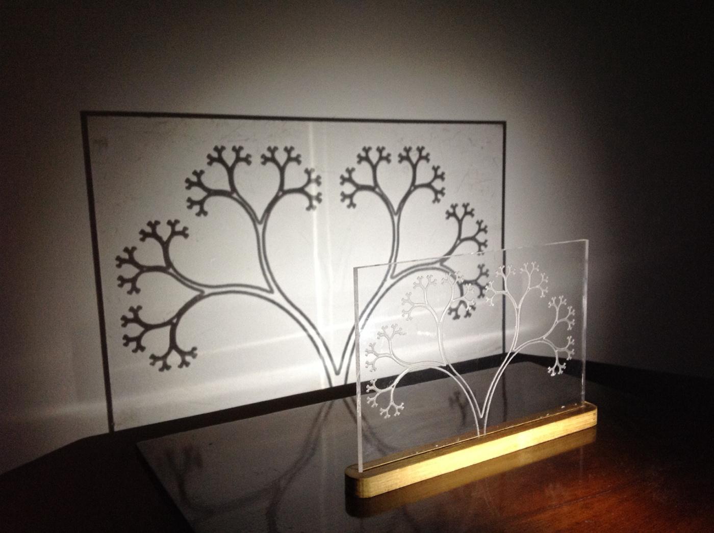 Shadow Art fractal cnc acrylic ikea