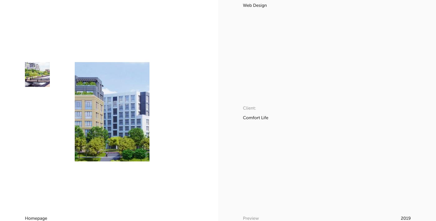 real estate residential building quarter UI ux mobile minimal developer apartment