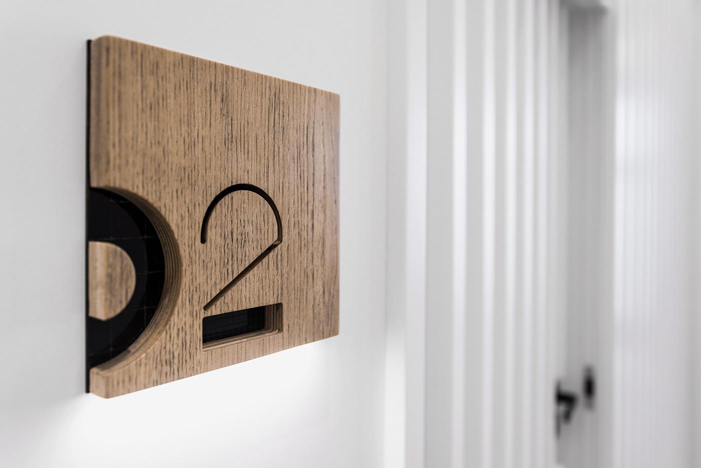 brand identity clinic minimal grid bw Mono wayfinding branding  poznan