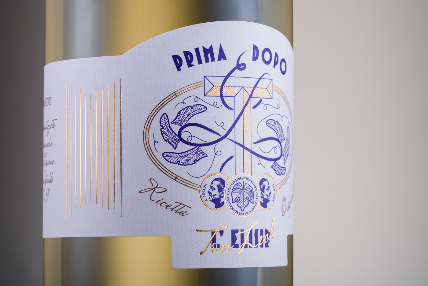bottle cocktail Label Packaging Spirits Vermouth wine