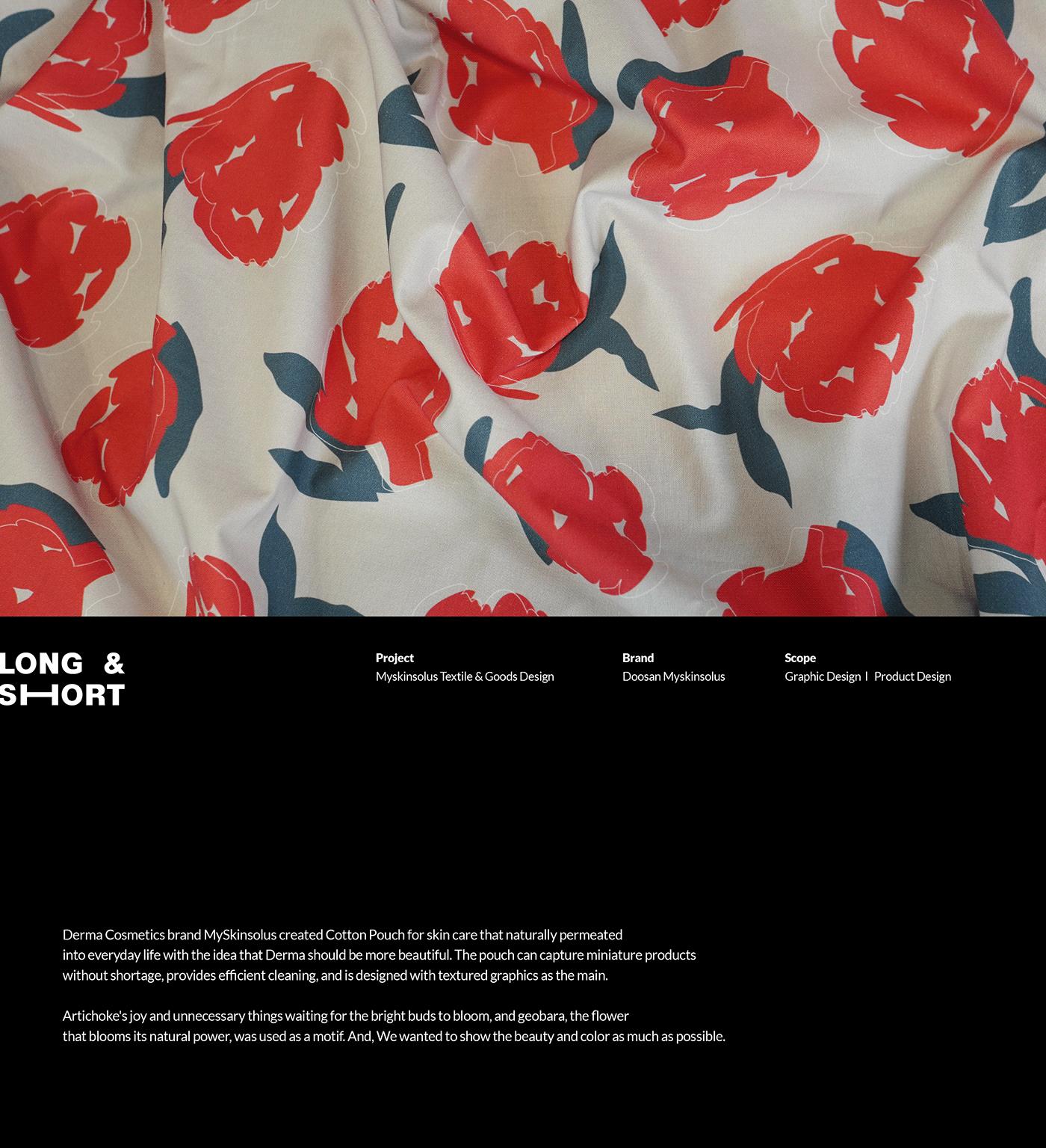 artichoke bag flower goods graphic design  pattern pouch textile