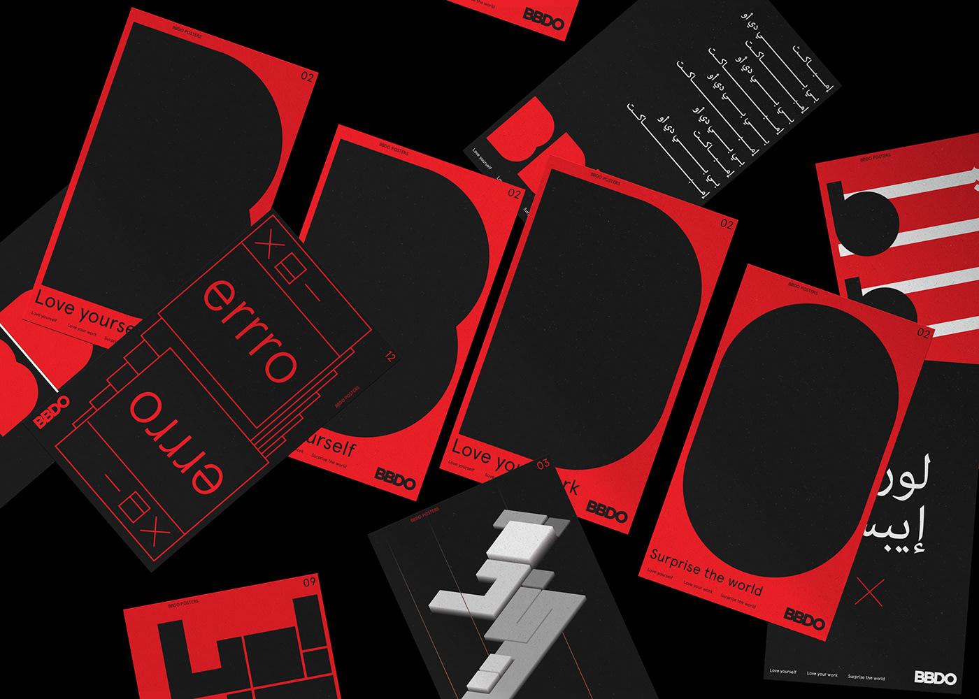 agency Arab arabic BBDO designstudio dubai geometric Isometric MENA poster