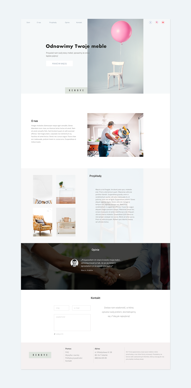 Furniture Restorations Website Concept