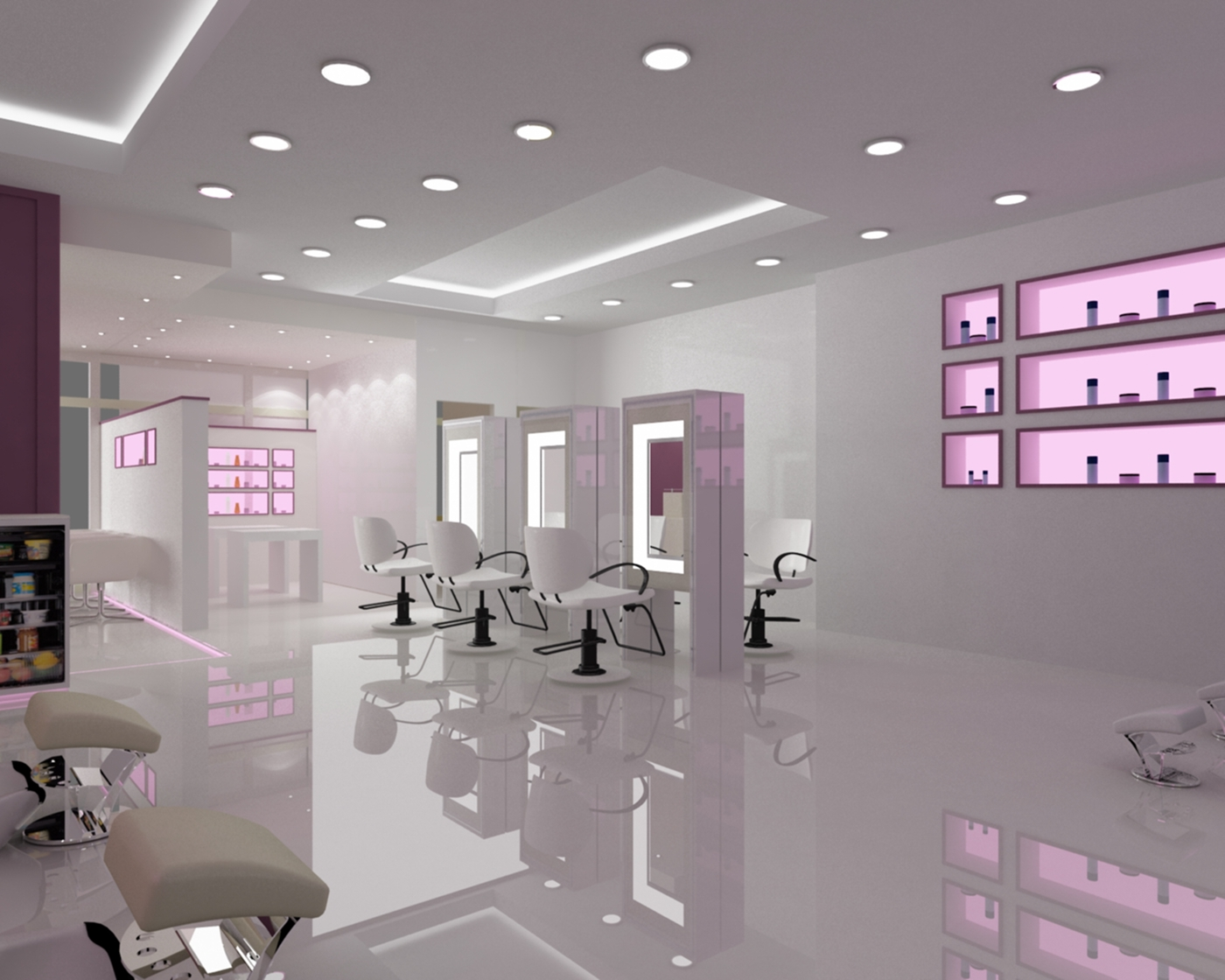 Interior concept for beauty salon on behance - Beauty salon interior design pictures ...