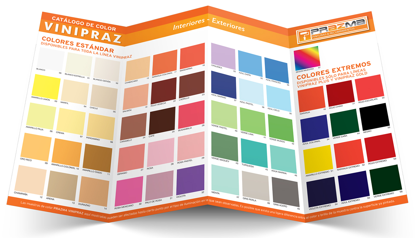 Prazma pinturas dise o de muestrario de color on behance for Muestrario de pinturas