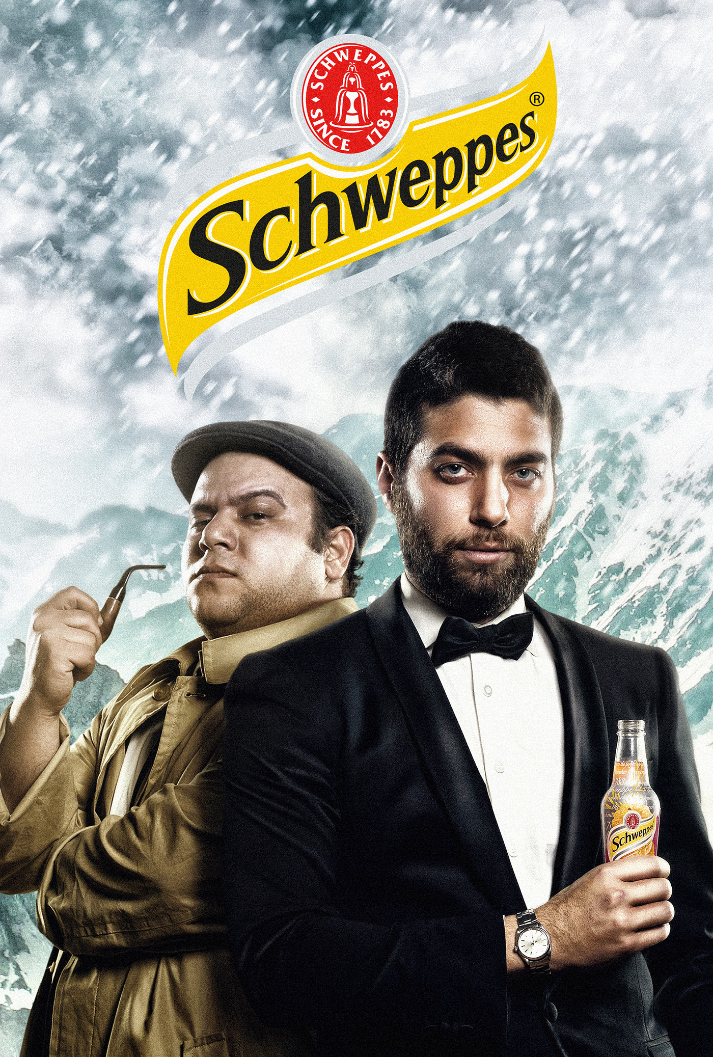 schweppes cocacola poster genaric ice jungle ship