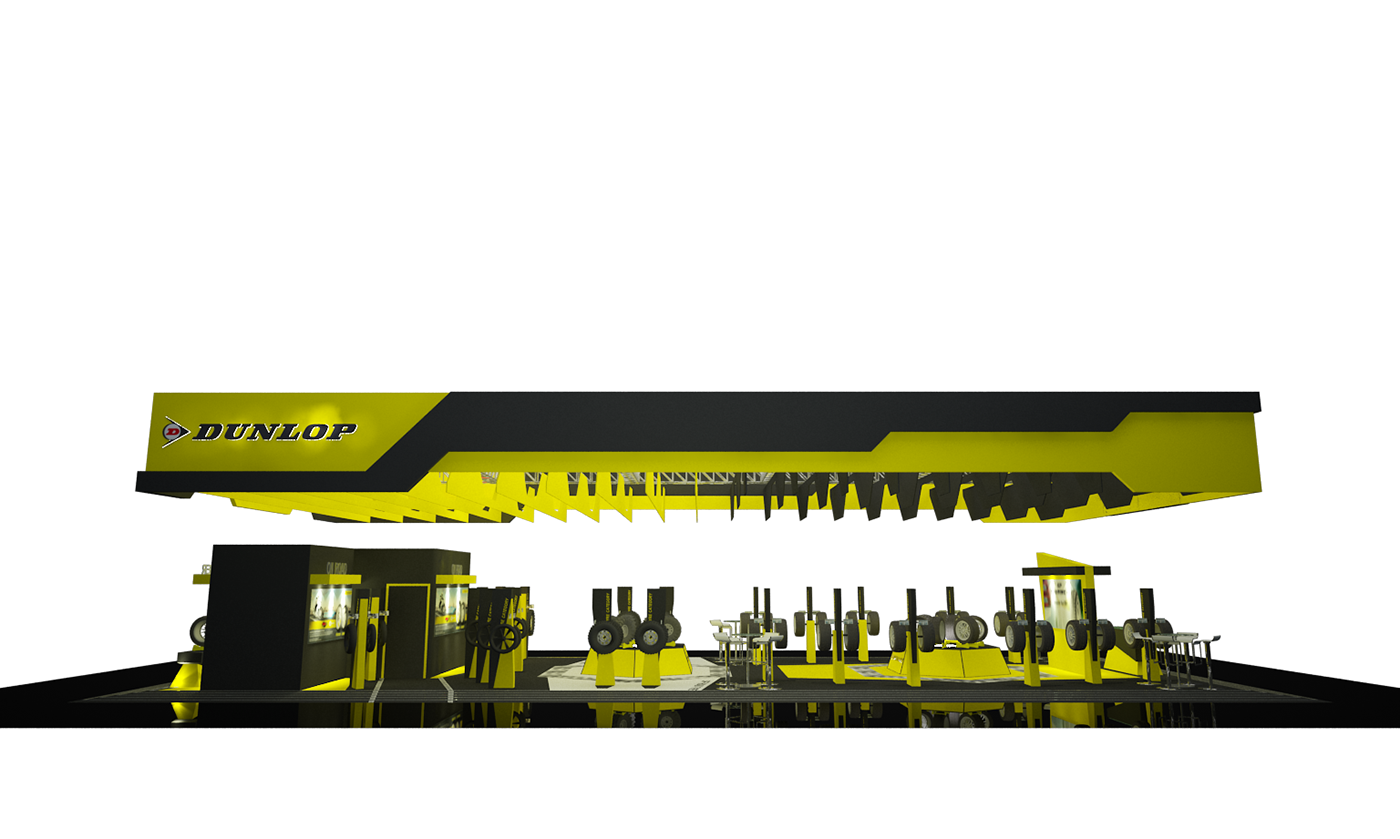 DUNLOP TIRE Exhibition Design  interior design