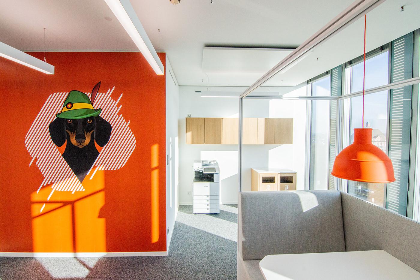 architecture brand guidelines branding  environmental graphics Experiential design identity ILLUSTRATION  inplacedesign interiordesign PureStorage