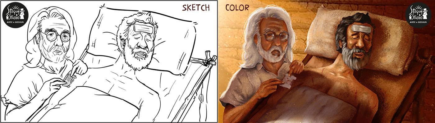ILLUSTRATION  Ilustração motion motion comics