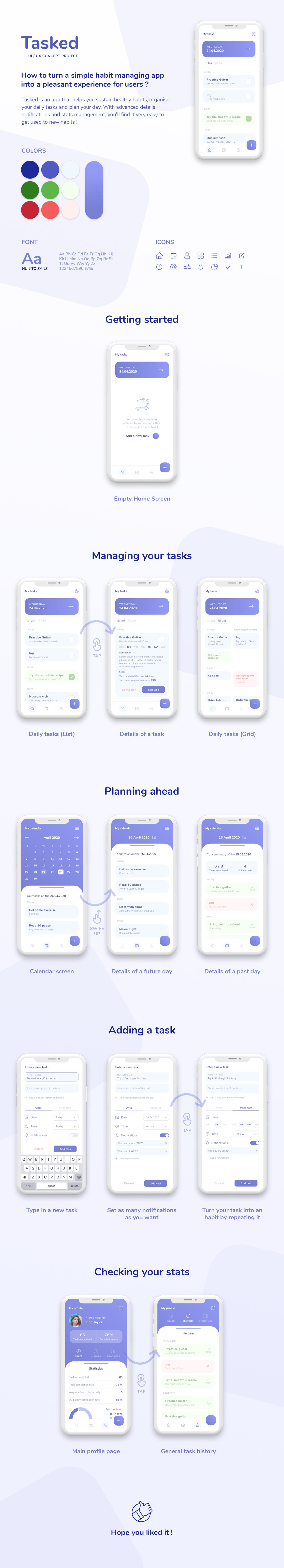 app Case Study checklist design product design  task UI UI/UX ux