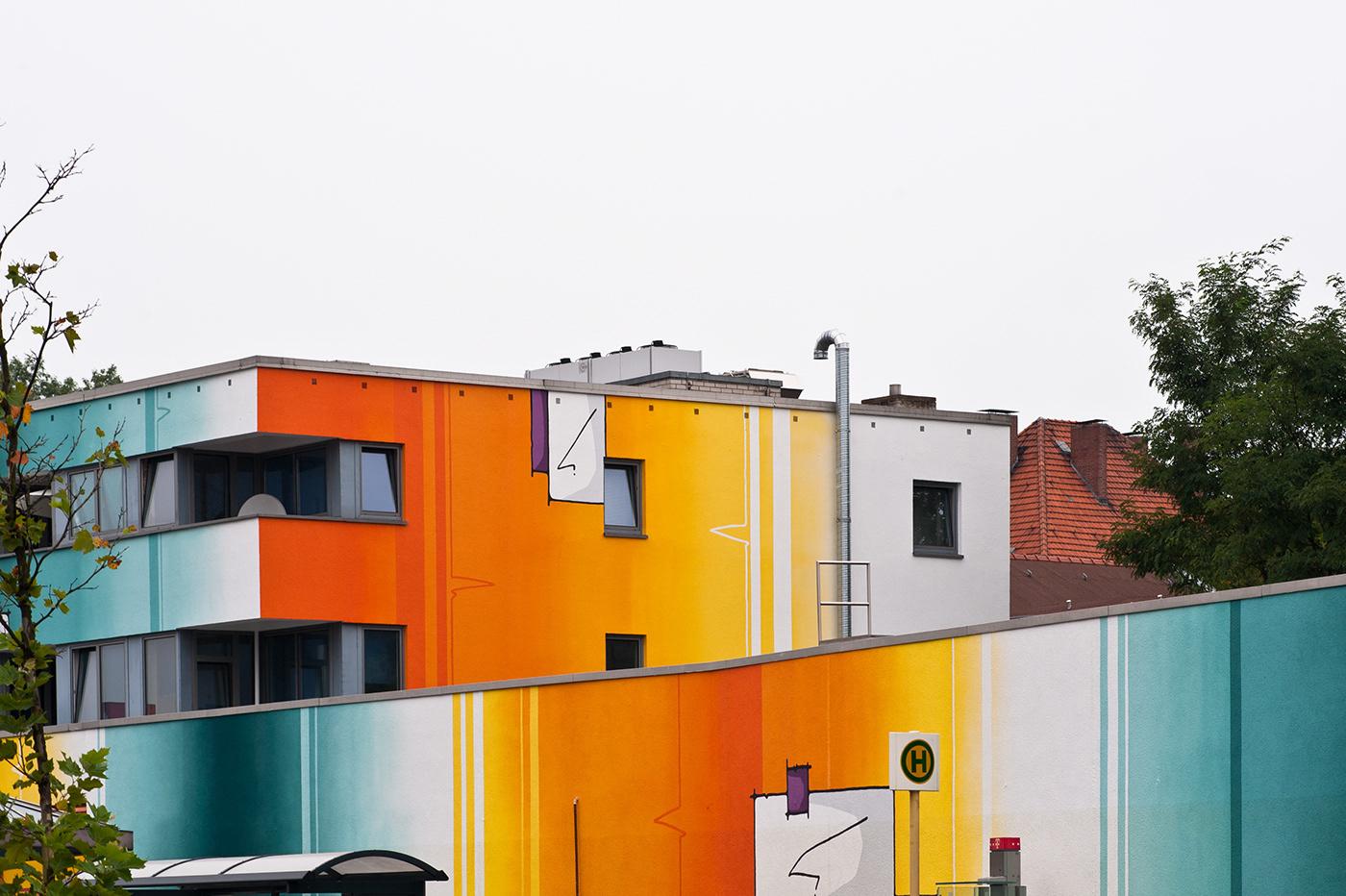 facade design Mural Fassadengestaltung Kunst am Bau