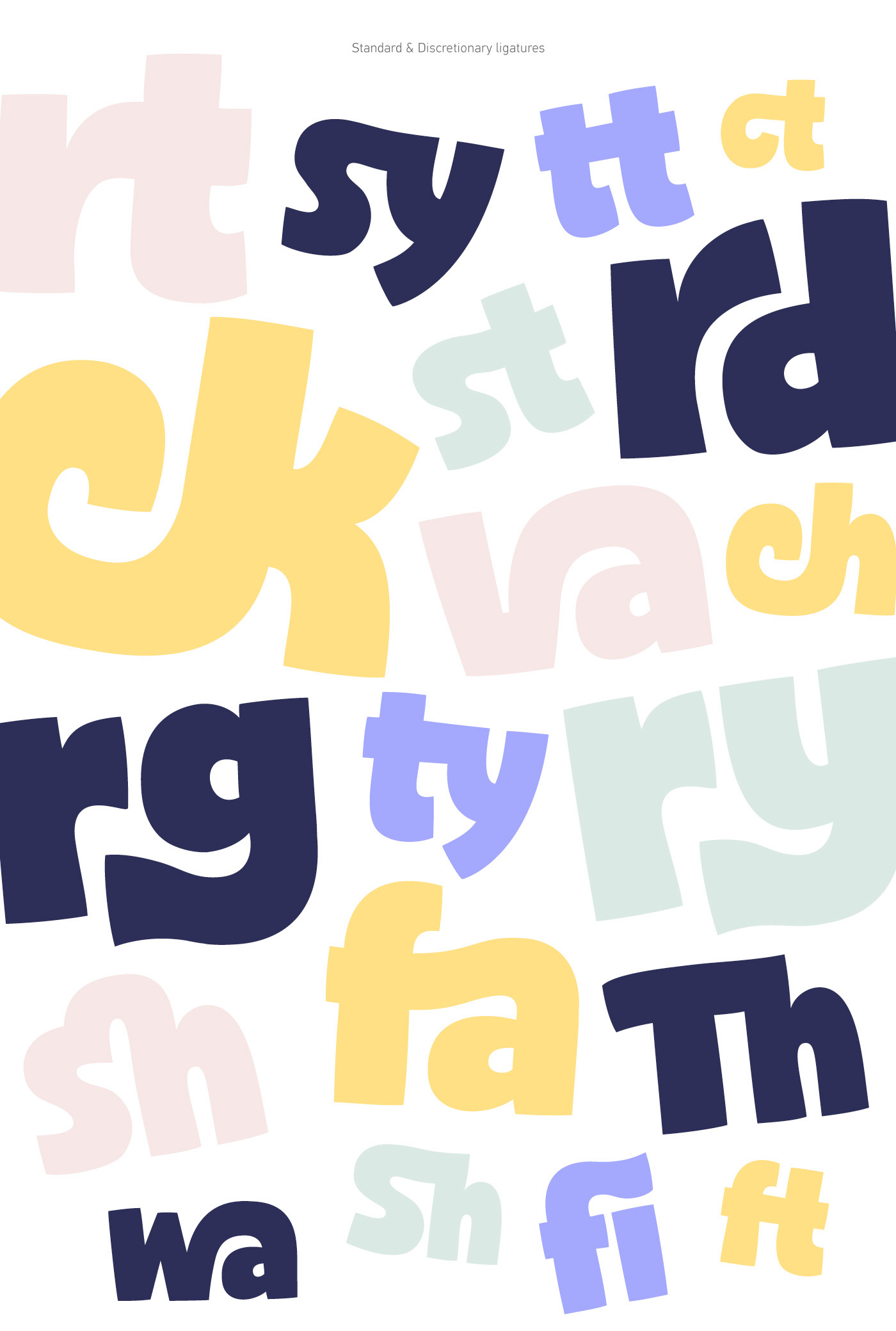 font Typeface sans serif black cartoon modern Opentype funny contrast multilingual