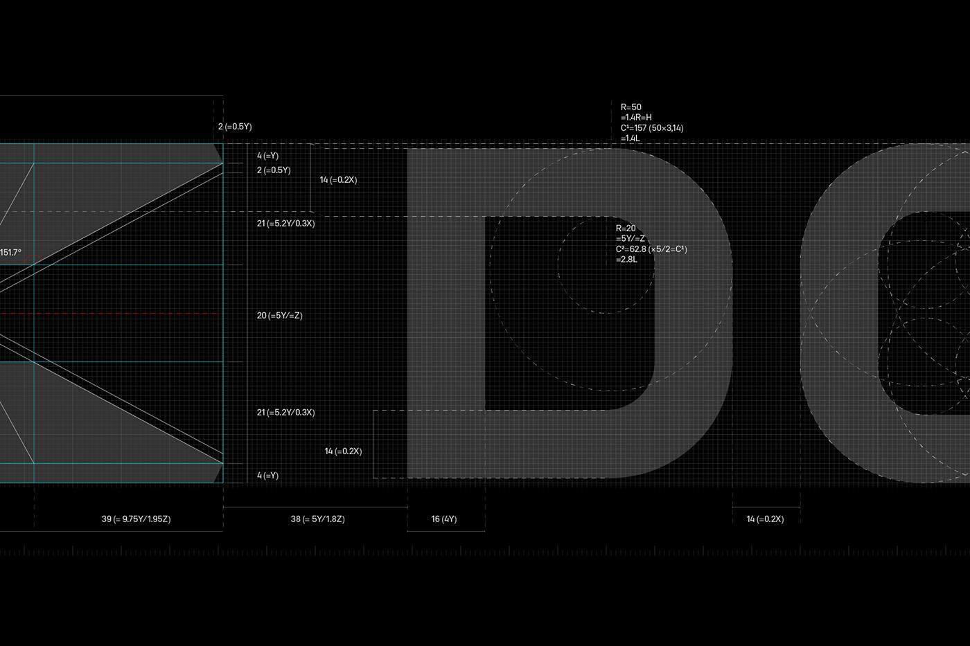 deeptech brand identity depth geometry Logo Design mathematics science symbol typography   visual identity